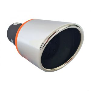 Tailpipe Exhaust Car Black Silver Sport 185mm
