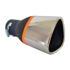 Tailpipe Exhaust Car Black Silver Sport 168mm Universal